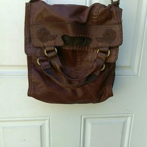 Lucky Brand Abbey Road Fold Over Flap Bag Purse